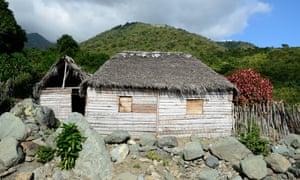 Shack up: a wooden hut near Pico Turquino.