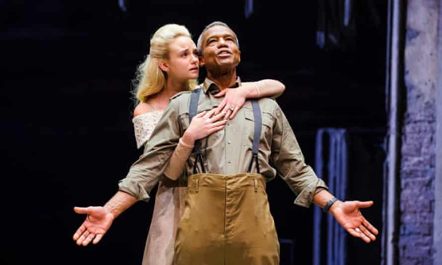 Joanna Vanderham (Desdemona) and Hugh Quarshie (Othello) at the Royal Shakespeare Theatre