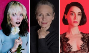 Alice Glass, Laurie Anderson and St Vincent