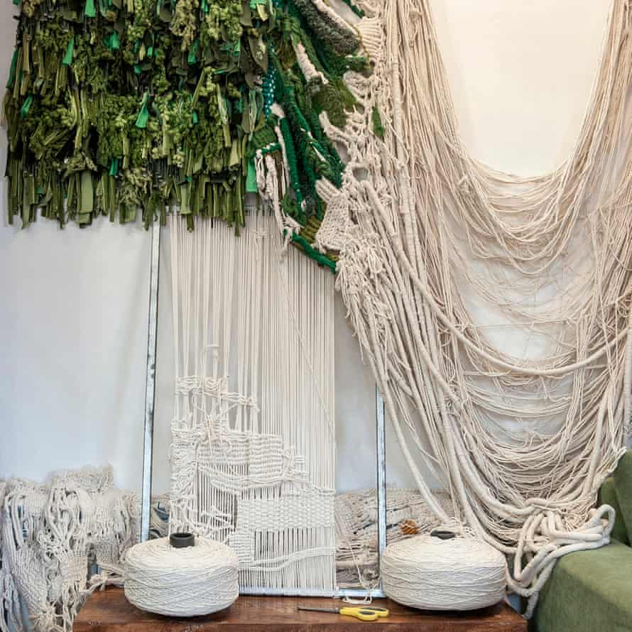 A hanging tapestry