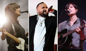 Courtney Barnett, Adam Briggs and Missy Higgins.