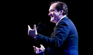 Quentin Tarantino accepts the best picture prize for Once Upon a Time in Hollywood at the Critics Choice awards.