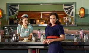 Lyndsy Fonseca as Angie Martinelli and Hayley Atwell as Agent Peggy Carter.