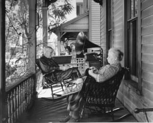 Gramophone on porch