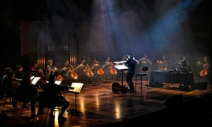 The London Contemporary Orchestra conducted by cellist and festival programmer Oliver Coates, Queen Elizabeth Hall, Southbank, for New Review, part of the Deep Minimalism Festival