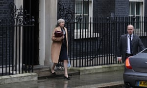 Theresa May leaves for Prime Minister's questions ahead of the 2017 Budget at 10 Downing Street on March 8, 2017 in London, England. Today's Budget will be the last one to take place in the spring. It is being replaced by an annual autumn Budget, the first of which is to be held later this year. The current Chancellor wants to simplify the process of setting taxes and government spending. (Photo by Dan Kitwood/Getty Images)
