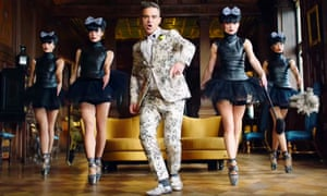Robbie Williams's video for Party Like a Russian - 'a tongue-in-cheek response to the notorious excesses of the Russian elite'.