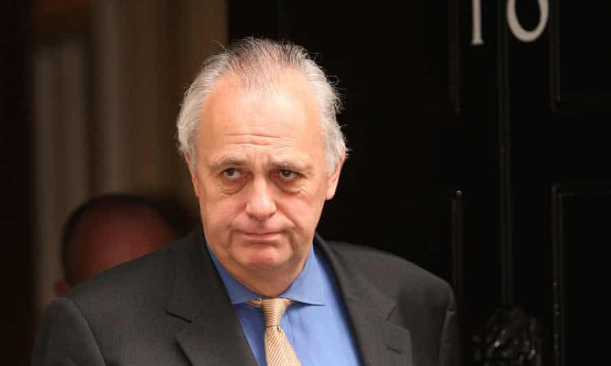 Lord Malloch-Brown leaves Number 10 after attending a cabinet meeting in 2008