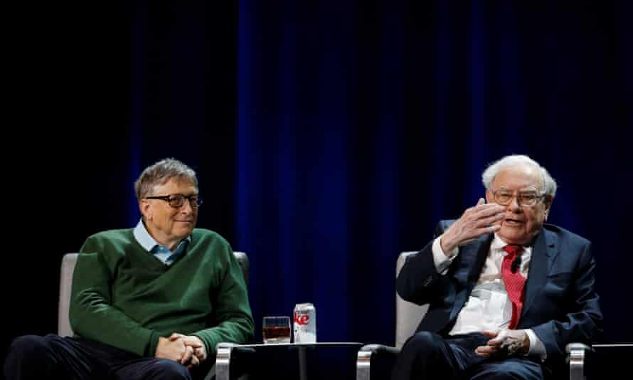 Bill Gates and Warren Buffett speaks at Columbia University in January.
