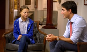 Thunberg and Trudeau meet in Montreal on Friday.