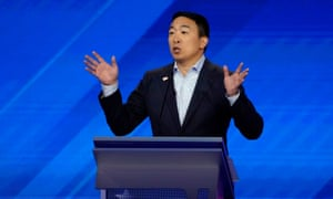 "Tech entrepreneur Andrew Yang emphasized he was ""pro-good school""."
