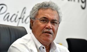 Tuvalu's prime minister, Enele Sopoaga