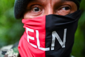 A member of the ELN who lost the vision in his right eye after combat with the Colombian army