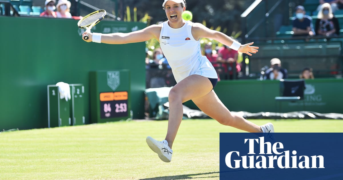 Johanna Konta out of Wimbledon after one of her team tests positive for Covid