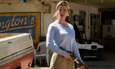 Due for release last year … Betty Gilpin in The Hunt.