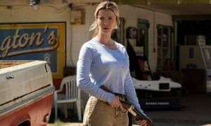 Marketing nightmare ... Betty Gilpin in The Hunt.