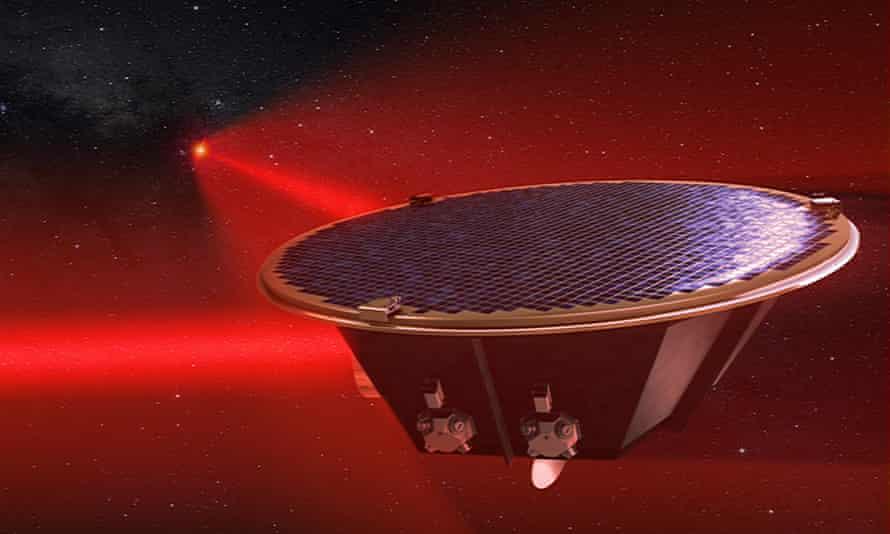 Artist's impression of a Lisa spacecraft.