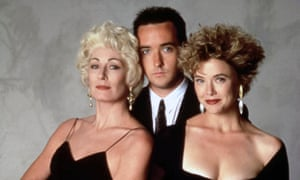 With Anjelica Huston and John Cusack in The Grifters.