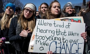 Demonstrators at the March For Our Lives in Washington DC in March.