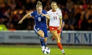 Scotland's Kim Little goes on a run in last month's 2-1 win over Switzerland at St Mirren and in which she scored the winner.