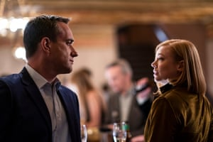 Matthew Macfadyen and Sarah Snook in Succession: 'gleefully vicious, tremendously acted'