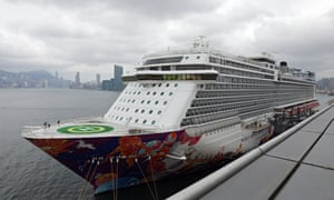 The 151,000-tonne World Dream cruiseliner docked at the Kai Tak Cruise Terminal in Hong Kong in February.