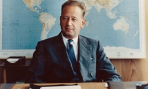 UN secretary general Dag Hammarskjöld, who died in a plane crash in Africa in 1961 en route to talks with Katangan rebels.