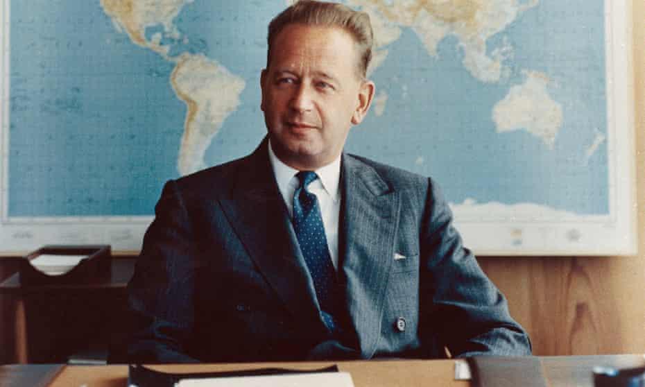 UN secretary general Dag Hammarskjöld, who died in a plane crash in Africa in 1961 en route to talks with Katangan rebels.