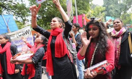 Women in New Delhi march