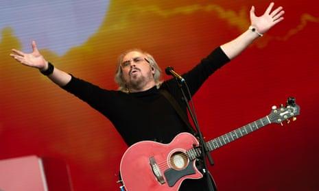 Barry Gibb at Glastonbury, 2017.
