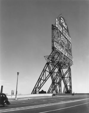 Untitled, Pabst Blue Ribbon Sign, Chicago, ca. 1946