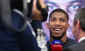 Anthony Joshua at a London press conference for his rematch with Andy Ruiz Jr