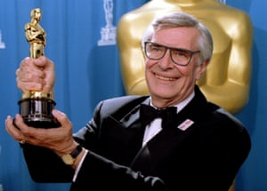With the Oscar he won for Best Supporting Actor at the 67th Annual Academy Awards in Los Angeles, March 27, 1995