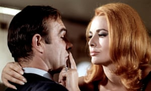 Karin Dor as the seductive Spectre operative Helga Brandt, with Sean Connery as 007, in You Only Live Twice, 1967.