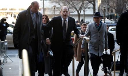 Harvey Weinstein arrives to court on Wednesday in New York City.