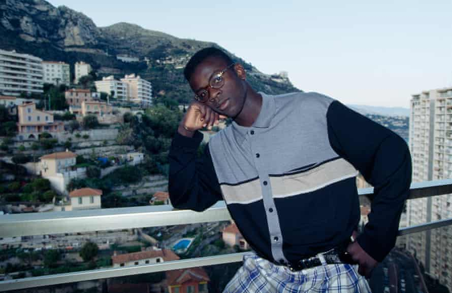 Lilian Thuram in Monaco after being signed by Arsène Wenger, aged 17.