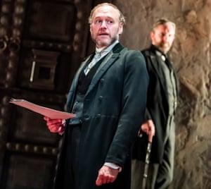 An irredeemable creep ... Elliot Cowan as Tom and Colin Tierney as Dr Rank.