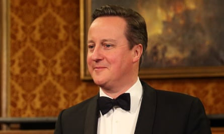 David Cameron in black-tie and dinner jacket