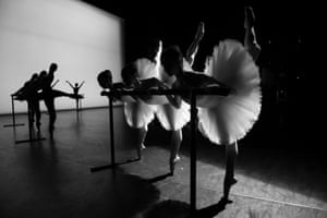 The English National ballet perform an extract from Etudes during a dress rehearsal for their 70th anniversary gala at the Coliseum in January 2020