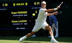 Roger Federer was at his imperious best against Dusan Lajovic