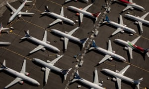 Boeing 737 Max plans parked at Boeing Field in Seattle. The final accident report into the Lion Air crash that killed 189 is to be published on Friday.