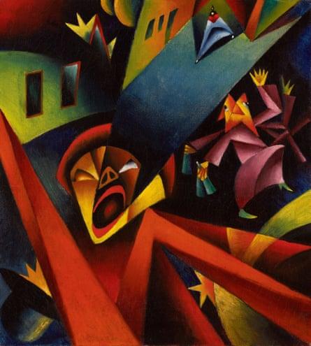 Georg Scholz's Nightly Noise (Nächtlicher Lärm, 1919) .