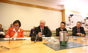 Former member for New England Tony Windsor, member for Indi Cathy McGowan, WA senator Dio Wang and shadow minister for Agriculture Joel Fitzgibbbon at the launch of Heartland, a study into rural and regional media in Parliament House, Canberra this afternoon, Wednesday 9th September 2015