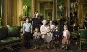 The Queen with her great-grandchildren and two youngest grandchildren