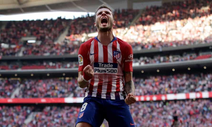 Atlético Madrid's Saúl Ñíguez.