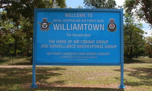 The main entrance to RAAF Base Williamtown.