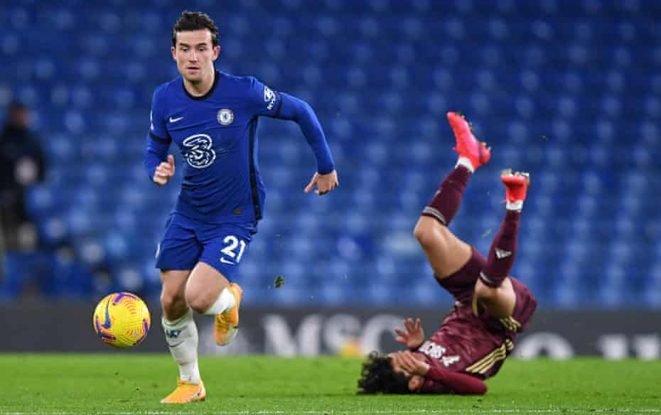 Ben Chilwell, pictured in action against Leeds, says: 'Over the last five or 10 years full-backs have become a massive part of a team.'