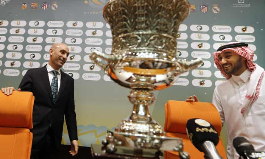 Spanish football federation president Luis Rubiales played up excitement over this year's Supercopa while Saudi sports minister Prince Abdulaziz bin Turki said his country is 'different to 10 years ago'.