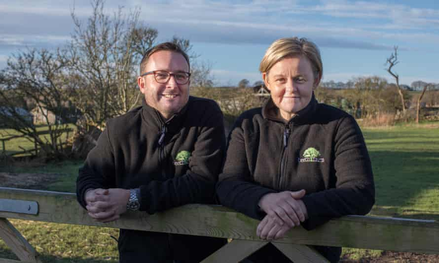 Graham and Kirsty Kirk, owners of Beech Farm Cottages: