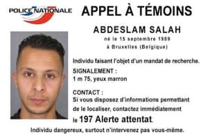 Appeal issued by French police to trace Paris terror suspect Salah Abdeslam.